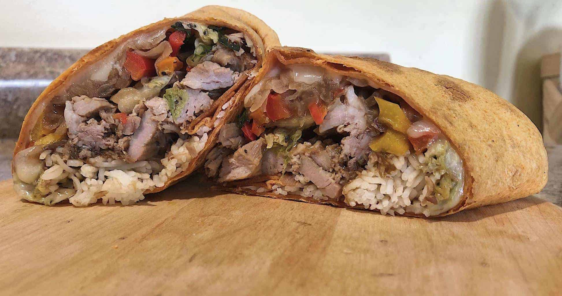 Sandwich Special: Asian Pork Burrito